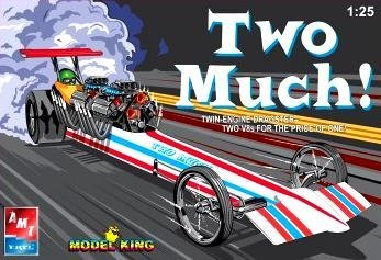2 Engine Twin (Model King Two Much Twin Engine Dragster 1:25 Scale Model Kit)