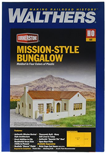 Mission Building Kits (Walthers, Inc. Style Bungalow House Kit, 4-15/16 X 5-9/16 X 2-13/16
