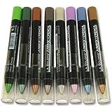 LA Colors Jumbo Eye Shadow Eye Liner Pencil 24 Colors with Free 2 in 1 Pencil Sharpener