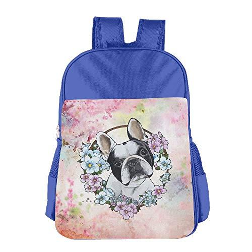 Clarissa Bertha Frenchie French Bulldog School Girls Boys Kids Backpacks Bags by Clarissa Bertha