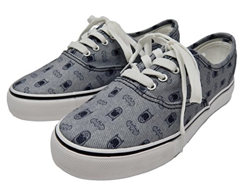 Bioworld Dc Comics Batman Sketch Prep Grigio / Nero Unisex Lo Pro Shoes