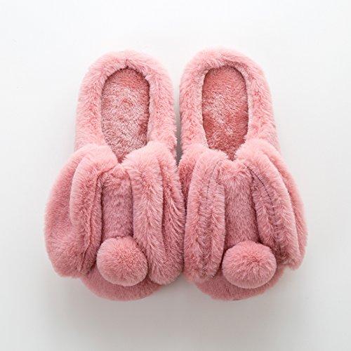 LaxBa Femmes Hommes Chaussures Slipper antiglisse à lintérieur du rouge foncé adultes37/38