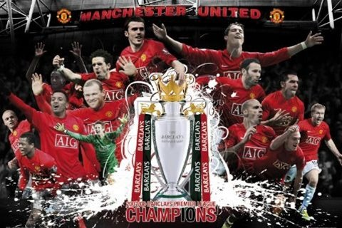 Manchester United Champion's League Soccer Football Sports Poster 24 x 36 inches