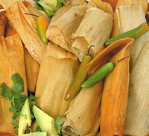 New Mexico Tamale Sampler, with Free Red and Green Chile (Pork Tamales)