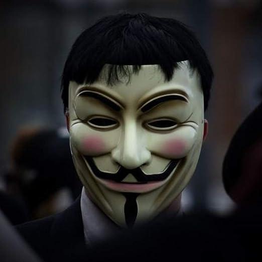 EqWong Máscaras de Halloween para Adultos Anonymous Hacker V para ...