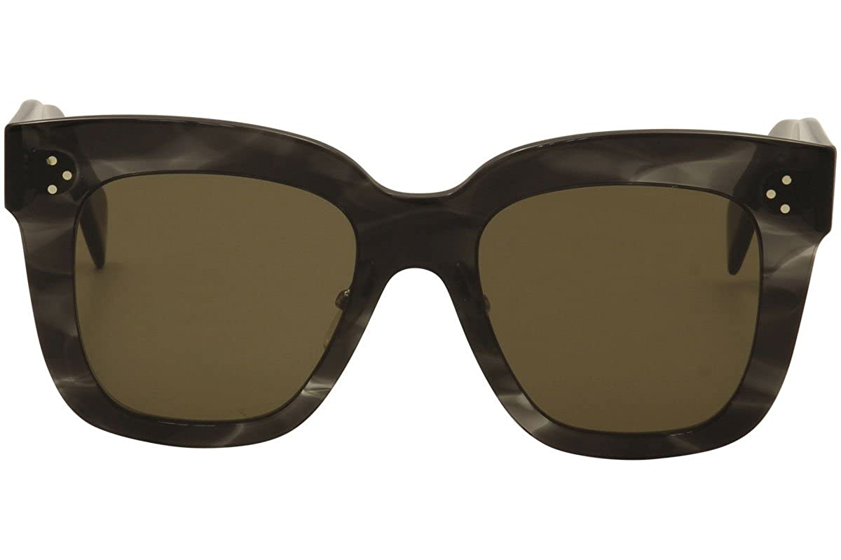 39607811edb Celine CL 41444 0GQ QS Kim Havana Grey Plastic Square Sunglasses Brown Lens   Amazon.ca  Clothing   Accessories