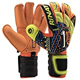 Rinat Soccer Goalkeeper Glove Uno Spine Alpha Pro Training Finger Protection Free Customization & Pin (11, Multicolor (Alebrije))