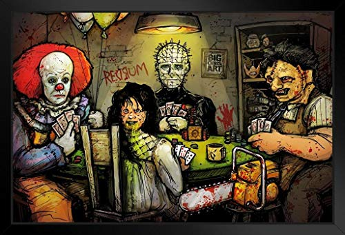 Final Table by Big Chris Horror Movies Framed Poster 20x14 inch
