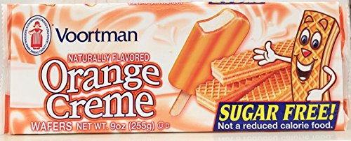 Creme Wafer Cookies (Voortman Sugar Free Orange Creme Wafers Cookies 9 Oz (Pack of 6))