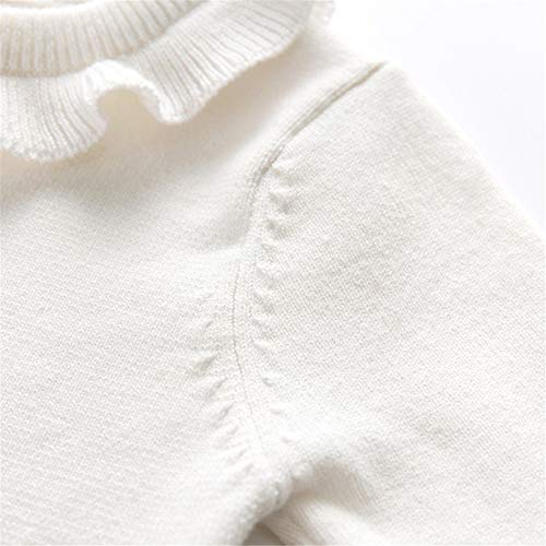 Auro Mesa Baby Girl Winter Clotheswhite Sweater Toddler Little