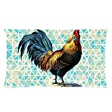 Custom Unique Design Cool Colorful Rooster/Cock Rectangle 20x36 inch Two Sides Facial/Skin Care Pillowcase Pillow Covers