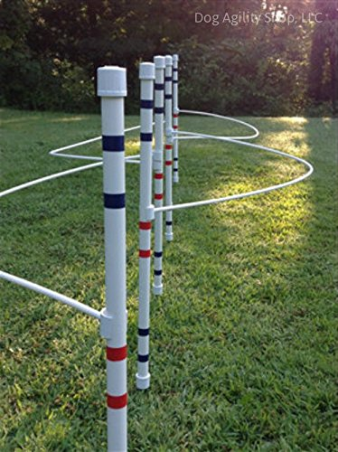 Agility Weave Poles (Weave Pole Guide Wires (clip on) for Dog Agility)