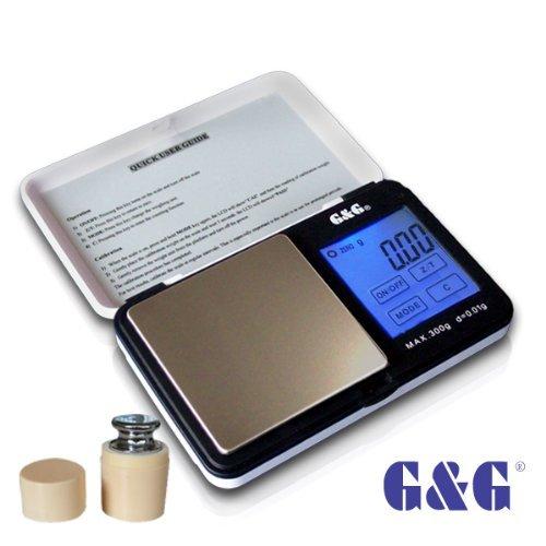 G&G TS-WB+G 300g/0,01g + Kalibriergewicht Taschenwaage Feinwaage Digitalwaage Goldwaage Münzwaage