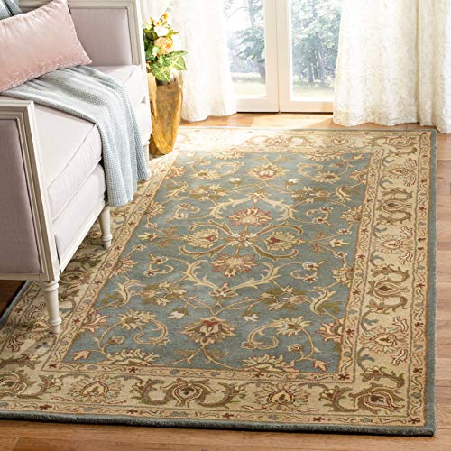 Safavieh Heritage Collection HG811B Handcrafted Traditional Oriental Blue and Beige Wool Area Rug (8' x 10') ()