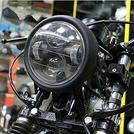 cromo Universal Metal High Low Beam LED Lampadina faro per moto Honda Shadow 1100 ACE1100 750 Yamaha Suzuki Harley Kawasaki kTM