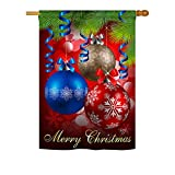 Cheap Breeze Decor – Ornaments Winter – Seasonal Xmas Impressions Decorative Vertical House Flag 28″ x 40″