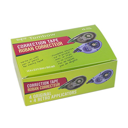 Tombow MONO Correction Tape, Costco 8-Pack. Easy To Use Applicators for Instant Corrections ()