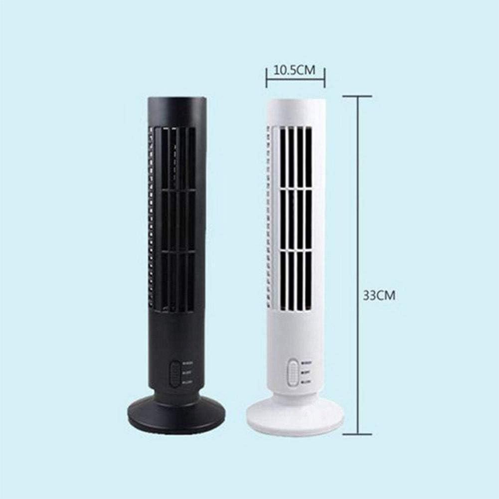 Mini USB Vertical Bladeless Air Conditioner Portable Silent Desktop Cooling Fan