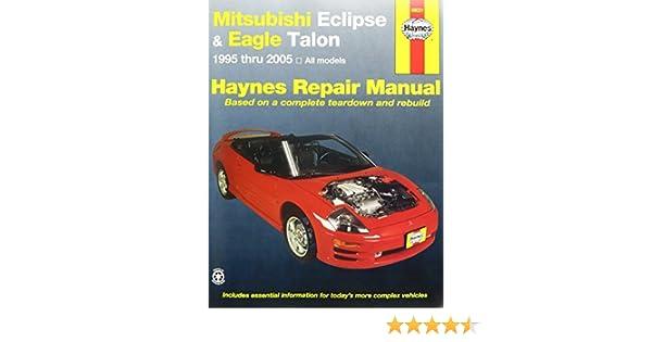 haynes mitsubishi eclipse and eagle talon 95 01 manual rh amazon com 96 Eagle Talon 1992 Eagle Talon
