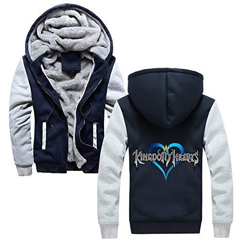 Et Unisex Femmes Cardigan Hearts Kingdom Simple Veste Pour Zipper Greyblue07 Sportswear Chandail Hommes Manteau À Élégant Capuche Chaud Longues Manches Décontracté Z6WIZrqw