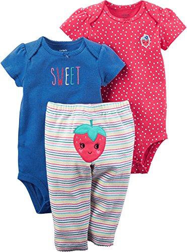 Carter's Baby Girls' 3 Piece Little Character Set 6 Months ()