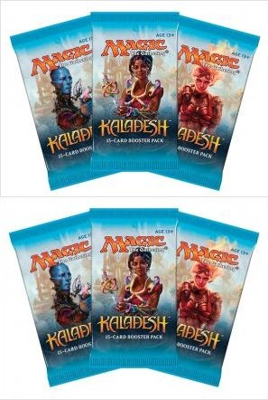 - Magic The Gathering 6 (Six) Packs MTG: Kaladesh Booster Packs