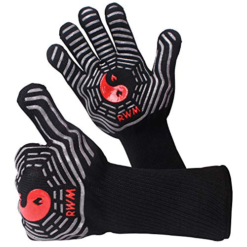 heat resistant silicon bbq gloves - 8