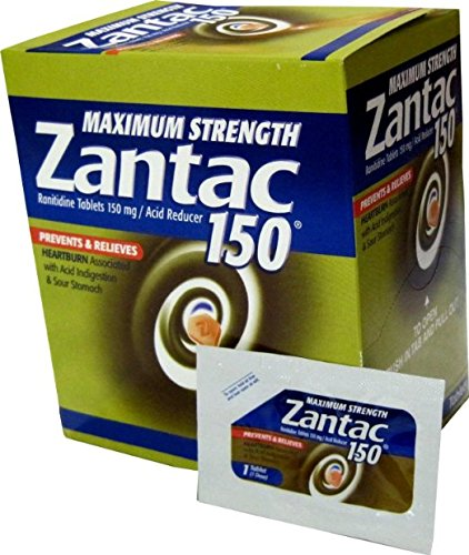 - Zantac Maximum Strength 150 Ranitidine, Acid Reducer, 25 Packets (Pouches) of 1 Tablet by Boehringer Ingelheim