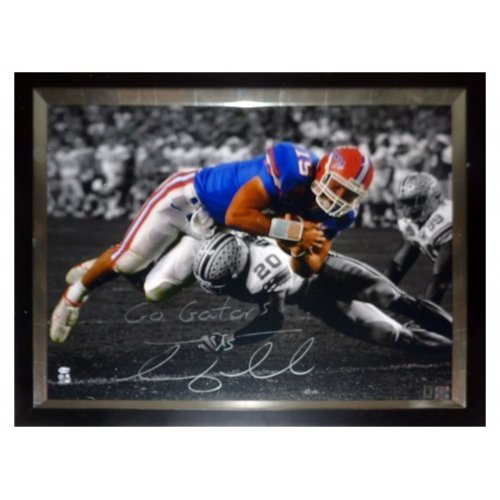 Florida Stretched Canvas (Tim Tebow Autographed Florida Gators (06 BCS Spotlight) 24x30 Stretched Canvas Giclee)