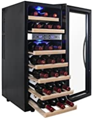 AKDY 21 Bottle Dual Zone Thermoelectric Freestanding Wine Cooler Cellar Chiller Refrigerator Fridge Quiet Operation...