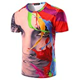 What Lees Mens Unisex Hipster 3D Digital Fashion Graphic Printing T Shirts B056