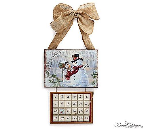Burton & Burton Wooden Snowman Advent Countdown Calendar 1615233
