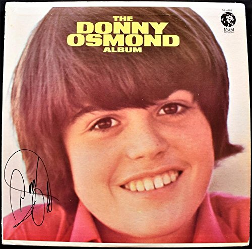 Donny Osmond Signed - Autographed The Donny Osmond Album LP Record Album Cover - 1971 1st Solo Album - Donny & Marie - Guaranteed to pass BAS - Beckett Authentication