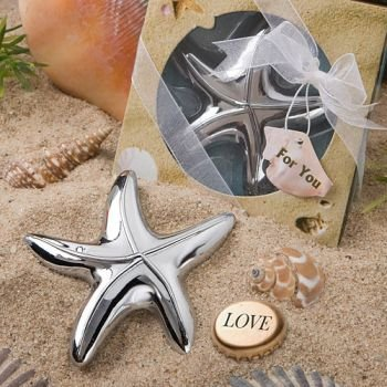Starfish Design Bottle Opener Wedding Favors (24 pieces)