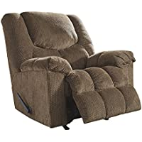 Ashley Furniture Signature Design - Turboprop Recliner - Manual Reclining Chair - Contemporary Style - Brownstone