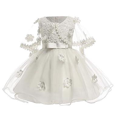 574a6d2124e1d BOZEVON Robe De Princesse Bébé - Filles Infantiles Mignonne Assez Douce  Dentelle Bowknot Tutu sans Manches