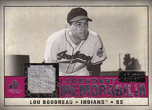 2008 Legendary Cuts Legendary Memorabilia #LM-LB Lou Boudreau NM-MT+ MEM 17/20 from Legendary Cuts