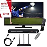 """Proscan PLDED3273A 32"""" 720p 60Hz Direct LED HDTV Freedom From Cable Bundle With Terk Trinity Amplified HD Antenna, Sylvania HD DVD Player, 6 foot HDMI Cable, And 3 Months Of Free Netflix"""