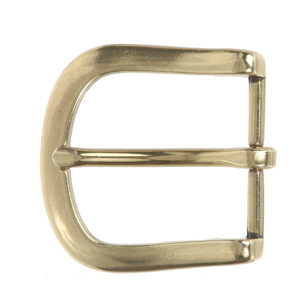 1 1/2 (38 mm) Nickel Free Single Prong Horseshoe Belt Buckle, Antique Brass Beltiscool 266238:A01S