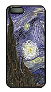 iPhone 5S CaseVan Gogh Starry Night9 PC Hard Plastic Case for iPhone 5/5S Black