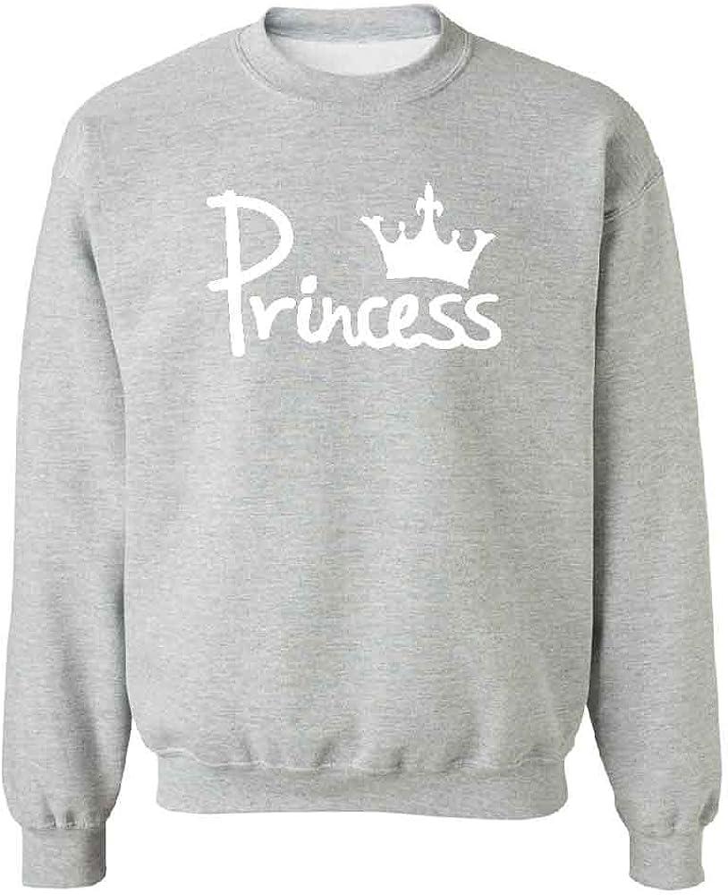 Princess Crown Unisex Crewneck Couple Matching Ladies Sweater