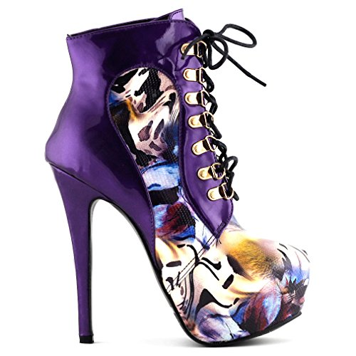 Show Story Stunning Purple Special Occasion Stilettos EVE Pumps,LF80831PP41,10US,Purple