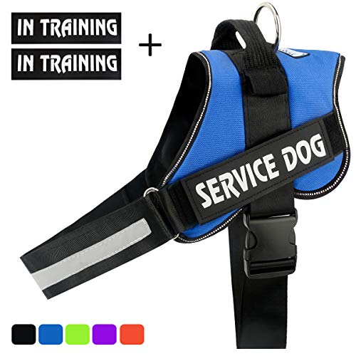 Dog Training Vest - voopet No-Pull Dog Harness, Reflective Adjustable Dog Training Vest with Handle - Outdoor Pet Vest Harness for Small Medium and Large Dogs