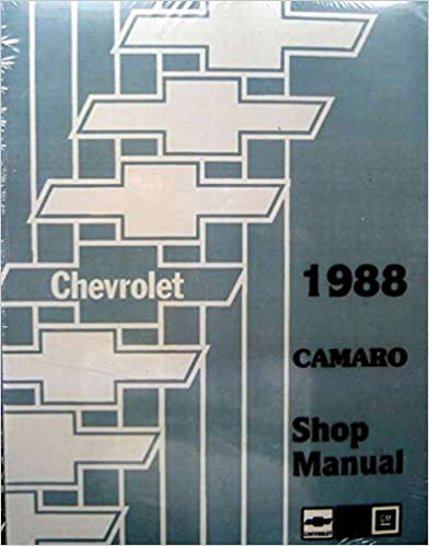 Book COMPLETE & UNABRIDGED 1988 CAMARO 2 VOL. SET FACTORY REPAIR SHOP & SERVICE MANUAL - INCLUDES; Chevy Standard Camaro & IROC-Z , Coupe and Convertible - CHEVROLET 88