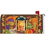 Fall Lantern Mailbox Makeover Cover - Attach with Magnetic Strips - Made in The USA - Copyright,