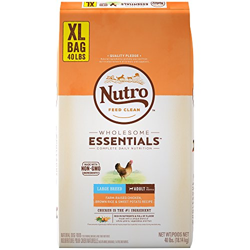 Nutro Wholesome Essentials Farm-Raised Chicken, Brown Rice & Sweet Potato Recipe Large Breed Adult Dry Dog Food 40 Pounds