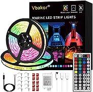 Vbakor Led Strip Lights Boat Lights, 12V Flexible RGB Strip Lights, IP65 Waterproof Boat Deck Lighting, Color