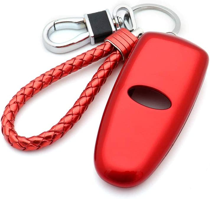 Thor-Ind ABS Car Key Fob Case Cover Key Chain for Ford Edge Escape Explorer Focus Taurus Flex//Lincoln MKT MKZ MKX MKS Glossy Black