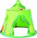 haba space - HABA Magic Forest Play Tent - Free-Standing Fabric Hut with Mesh Window and Door for Ages 18 Months and Up