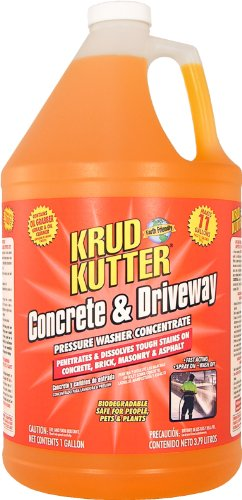 Krud Kutter DG01 Orange Pressure Washer Concentrate Concrete and Driveway Cleaner with Sweet Odor, 1 Gallon